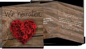 Hochzeitskarten Holz kartenkaiser.ch