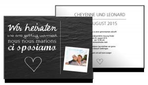 Hochzeitskarten Stein kartenkaiser.ch